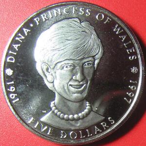 1997-MARSHALL-ISLAND-5-DIANA-PRINCESS-OF-WALES-1961-1997-COIN-CU-NI-no-silver