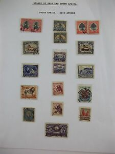 LOT-of-19-South-Africa-Suid-Afrika-Postage-Stamps-1d-3d-6d-2d-Postage-Revenue