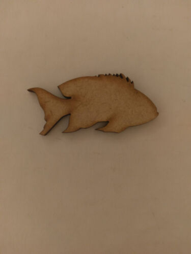 Wooden 3mm MDF Fish Marine Craft Cards Decorations Scrapmaking  Embellishments