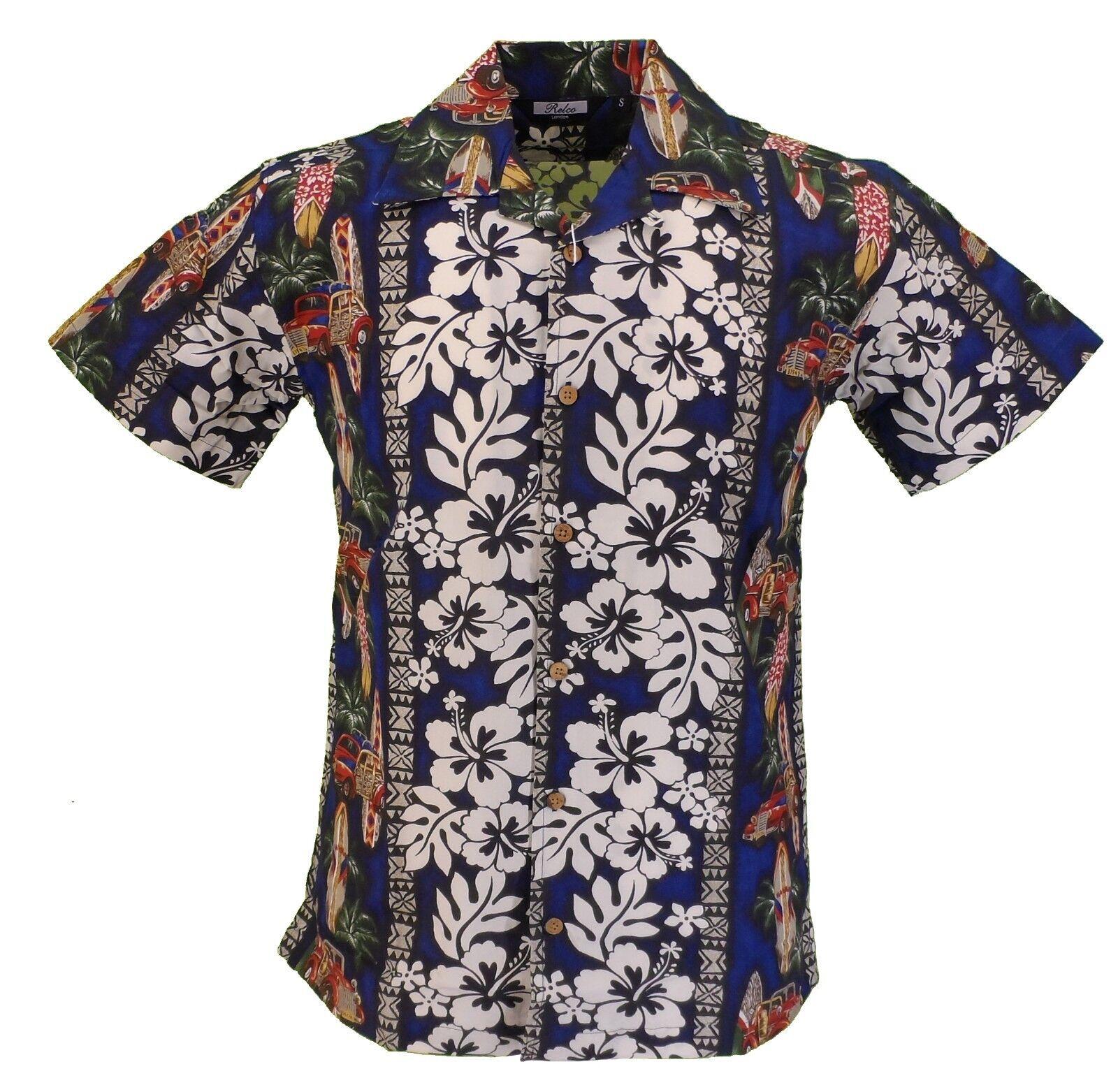Relco Mens Surf Retro Bowling Shirt