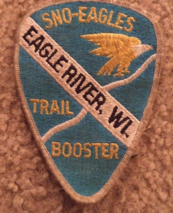 Vintage  SNO-EAGLES TRAIL BOOSTER Eagle River, WI Snowmobile Club Patch  shop clearance