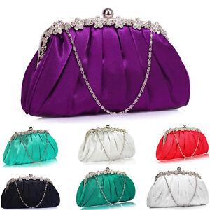 e4326d45d080 Image is loading Wedding-Designer-Fashion-Quality-Satin-Evening-Clutch- Handbag-