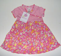 Baby Lulu Girls Floral Striped Dress 100% Cotton 2t Or 3t