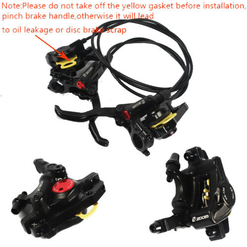 HB875 MTB Bicycle Hydraulic Disc Brakes Mountain Bike Levers Front&Rear ZOOM US