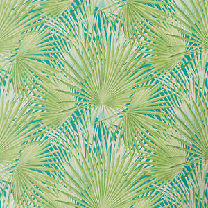 Tropical-Palm-Tree-Wallpaper-Exotic-Print-Smooth-Vinyl-Green-amp-Teal-Floral-Rasch