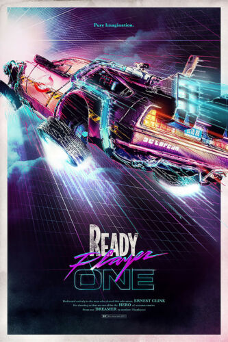 """Ready Player One 2018 Art Poster 21x14/"""" Back To The Future Movie Film Print Silk"""