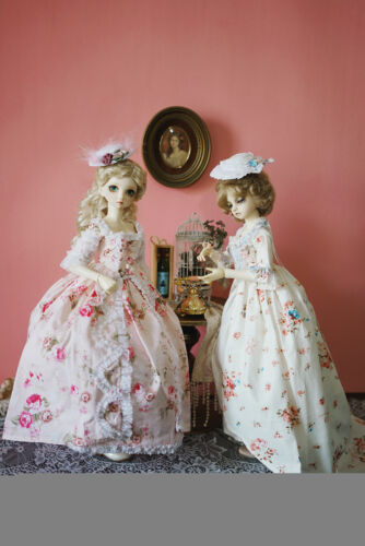 Fantasy Lolita Dress Full SetFor 1//6 1//4 MSD 1//3 YOSD BJD Doll Dollfie Outfit