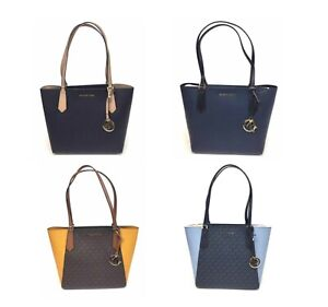d9524daf03ee Image is loading Michael-Kors-KIMBERLY-Small-Bonded-Signature-Tote-Bag