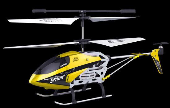 Helicoptère radiocommandé Micro Spark Bi redor 2.4 GHz 3 voies avec gyro T2M