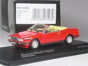 Classe-Minichamps-Maserati-biturbo-spyder-rouge-1986-en-1-43-en-OVP