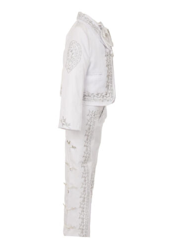 White Boy Baptism Christening Outfit Charro Mariachi Suit Set Kids Wedding Party