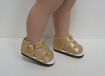 "Debs LT CREAM Patent Heart Cut-Outs Doll Shoes Fit 10/"" Ann Estelle Sophie Patsy"