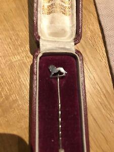 Victorian-Lion-Stick-Pin-In-Beautiful-Original-Case