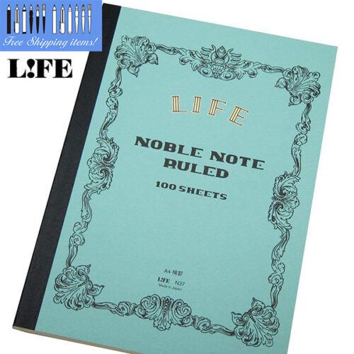 LIFE Nobl Note Book A4 100 sheet Model N37 RULED 8mm  Fountain pen Ballpoint pen