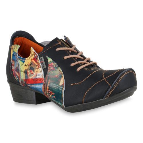 TMA  Klassische Damen Halbschuhe Leder Vintage Schnürer 826070 Schuhe