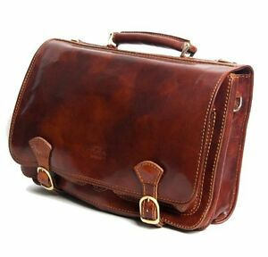 Timmari Italian Leather Briefcase Messenger Shoulder Bag Men Women ...