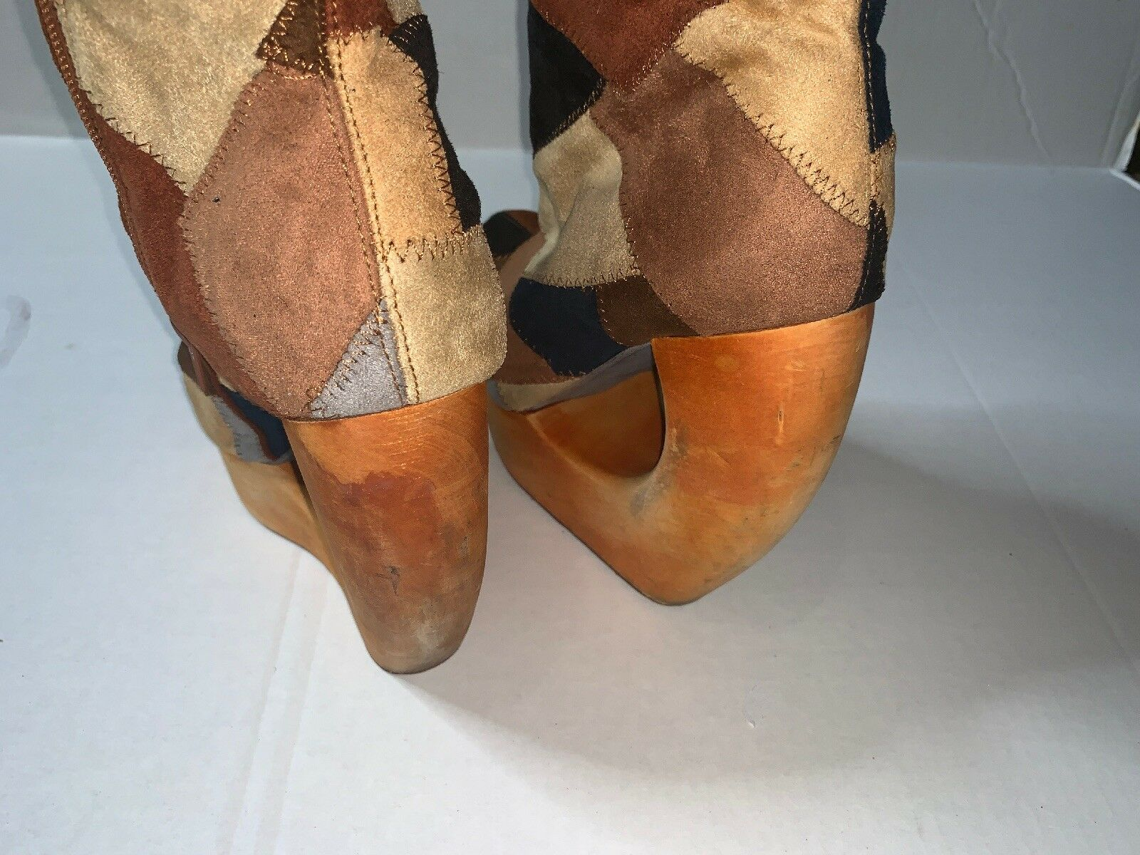 Preowned- Jeffrey Campbell Curved Curved Curved Wooden Boot Womens (Size 8M) 54c673