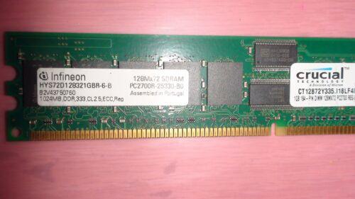 Crucial CT12872Y335.I18LF4I 1GB DDR ECC RAM PC2700 333MHz Server Memor 1X 1GB