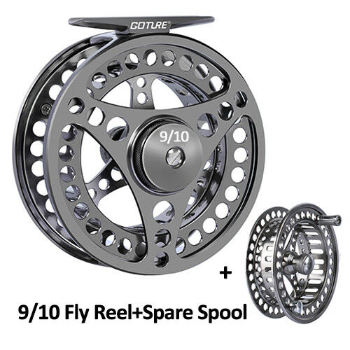 CNC-machined Large Arbor Fly Fishing Reel 3//4 5//6 7//8 9//10WT with Spare Spool