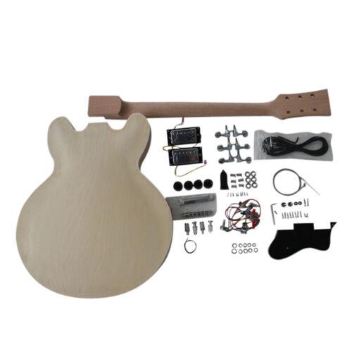 Coban Guitars DIY Kit Spalted Maple Veneer Chrome Fittings ES 260 NON Soldering