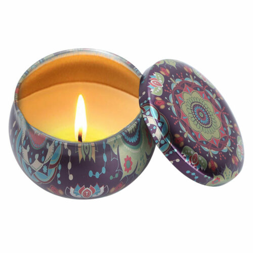 US 6Pcs Vintage Metal Tin Jar w//Lid Jewelry Case Coin Spice Container Candle Box