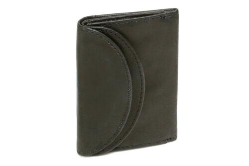 MINI Portafoglio LEAS in vera pelle- Mini Portamonete Portafoglio Nero