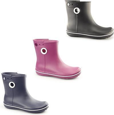 Crocs Jaunt Shorty Donna Croslite Corto Alla Caviglia Stivali di Gomma Pull On | eBay
