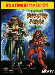 MONSTER-FORCE-Original-1994-Trade-AD-poster-TV-series-Fall-promo-Universal