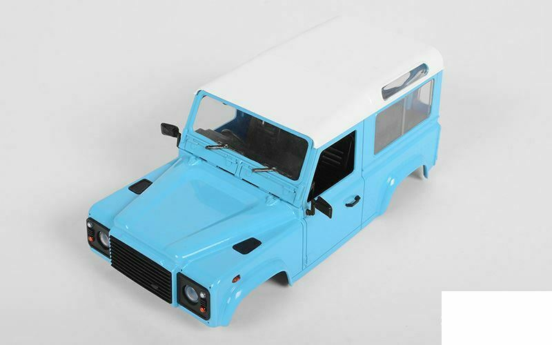 RC4WD D90 corpo rigido Set 1/18 Gelande AZZURRO Z-B0175 II G2 18th tetto bianco