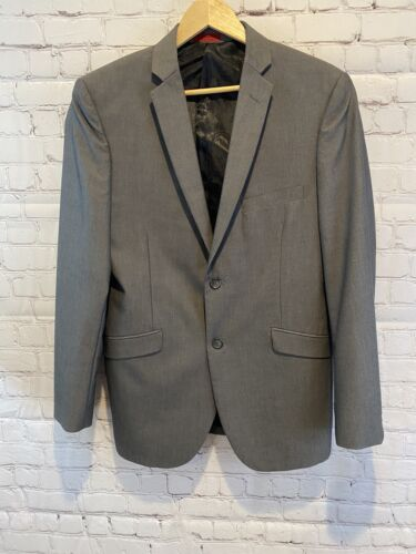 Adolfo Gray Mens Suit Jacket 40R Slim