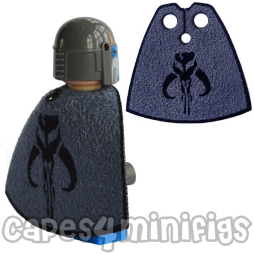 CUSTOM Mandalorian capes for Starwars Lego minifigure Choose Blue or Grey Cape