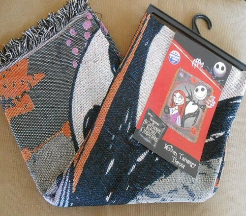 New Jack /& Sally The Nightmare Before Christmas Woven Throw Gift Blanket Movie
