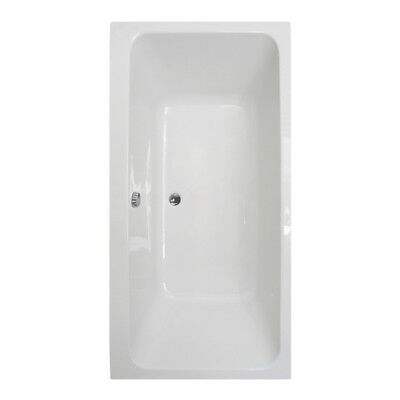 1800 x 800 Double Ended Large Strong Acrylic Straight Bath Tub