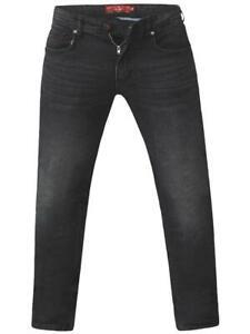 BENSON-KS-D555 Coupe Fuseau Jeans Extensible en Gris Délavé