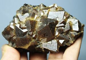 Natural Beauty Rare Cubic Andradite Garnet Crystal Mineral Specimens/China