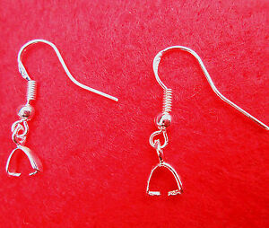 DIY-Design-20-100X-925-Sterling-silver-Pinch-Bail-Earring-French-Ear-Wires-Hooks