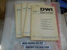 Sach I Polit DWI Berichte Set v 4 Magazine DT WIRTSCHAFTSINSTITUT BERLIN (Ost)