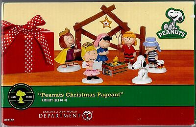 peanuts department 56 peanuts christmas pageant nativity set of 8 - Department 56 Peanuts Christmas