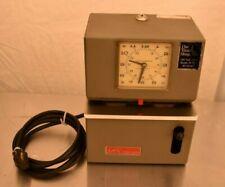 Vintage Lathem Time Clock Punch Clock Nice Condition Clock Works