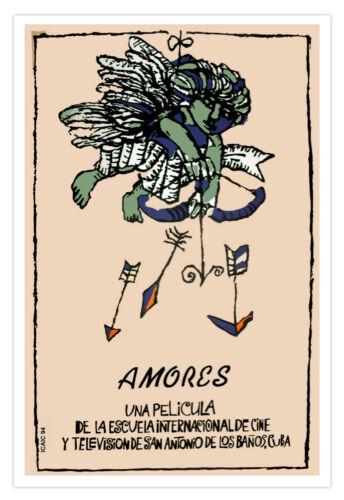 "Cuban decor Graphic Design movie Poster 4 film/""AMORES/""Cupid Amor Love.ART."