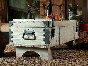 Image Is Loading Old Travel Trunk Coffee Table Cottage Steamer White