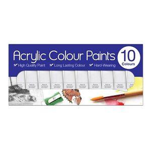 Painting Supplies 6ml Tubes Pk 10 Acrylic/oil/water Colour Paint Set Assorted Artist Art/craft Set