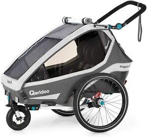 Qeridoo Kidgoo2 (2020/2021) Kinderfahrradanhänger, Fahrradanhänger 2 Kinder