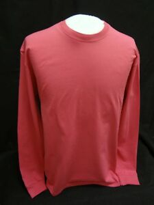 Port /& Co Long Sleeve T-Shirt Comfort Cotton Soft Plain Blank Tee Mens