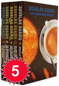 Douglas-Adams-5-Books-Collection-Set-The-Hitchhikers-Guide-to-the-Galaxy-New