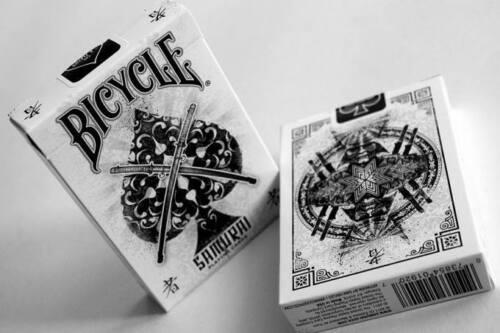 poker size playing cards deck Carte da gioco BICYCLE SAMURAI v1