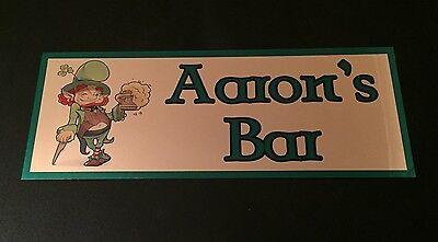 Irish Pub Sign Paddys day Home Bar Pub personalised Irish bar metal A4 sign