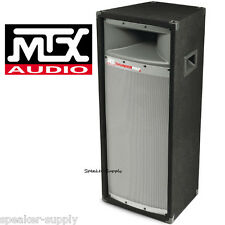 """MTX TP2400 12"""" 2-Way ThunderPro Pro DJ PA Speaker 400 Watt Tower Dual 12"""" Sub"""