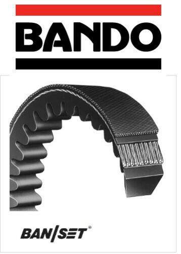 "0.50/"" Wide 0.31/"" Thick Bando Power King Cog AX Series Raw Edge Cogged V Belt"