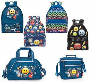 EMOJI-OFFICIAL-Backpack-Rucksack-Travel-Duffel-Work-School-Bag-Holiday-Lunch-Bag